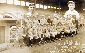 A.L. Red Sox ball club, season 1912, Fenway Park