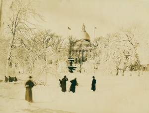 Boston Common during a snow storm