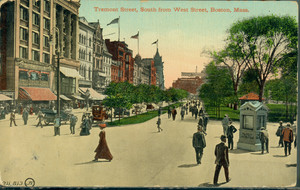 Tremont Street, south from West Street., Boston, Mass.