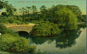Boston, Mass., bridge and Scarboro' Pond, Franklin Park
