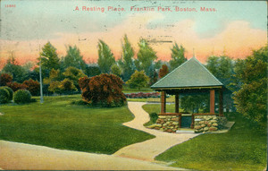 A resting place, Franklin Park, Roxbury, Mass.
