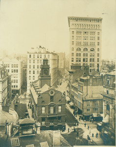 Old State House and Ames Building, Boston, Mass.