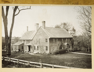 Exterior view from old black and white photograph, Coffin House, Newbury, Mass.
