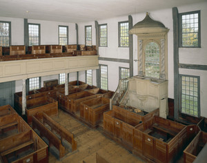Interior View From Balcony Rocky Hill Meeting House Amesbury Mass