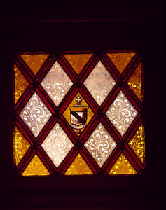 Stained glass shield, Roseland Cottage, Woodstock, Conn.
