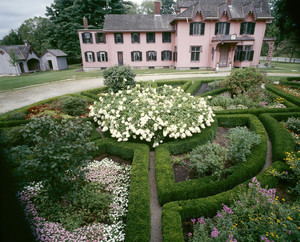 South gardens in bloom, Roseland Cottage, Woodstock, Conn.