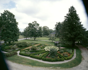 Grounds and gardens in bloom, Roseland Cottage, Woodstock, Conn.