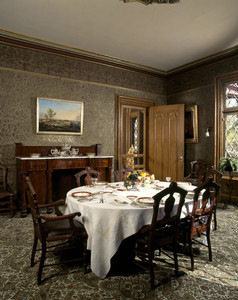 Dining room, Roseland Cottage, Woodstock, Conn.
