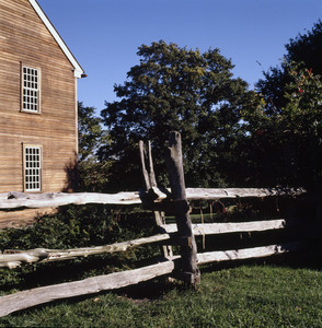 Exterior view with fence, Watson Farm, Jamestown, R.I.