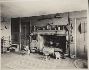 Interior view of the Royall House, kitchen, Medford, Mass., undated