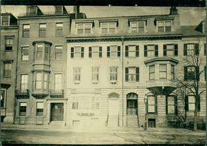 Buildings on Beacon St., between Charles and Brimmer Streets, Boston, Mass., undated
