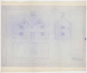 Set of architectural drawings of the Joseph Sherburne House, Portsmouth, N.H., 1670-1700