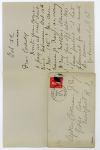 Letter to Ogden Codman, Jr. from Edith Wharton, Lenox, Mass.