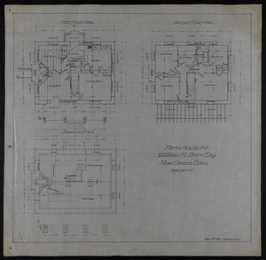Set of architectural drawings of the William H. Burr farmhouse and barn, New Canaan, Conn., Mar. 4, 1903
