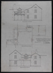 Set of architectural drawings of the Henry Britton Farmhouse, Kent, Conn., undated