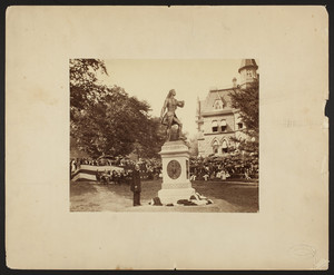 Dedication of the statue of General George Armstrong Custer, West Point, N.Y., undated
