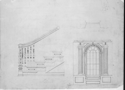 Measured detail drawing of the John Hancock House, staircase, Boston, Mass., ca. 1863