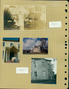 Tucker Family photograph album, group portrait and exterior views, page ten, Wiscasset, Maine, 1921-1965