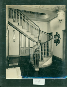 Tucker Family photograph album, interior view, staircase, page eleven, Wiscasset, Maine, 1935