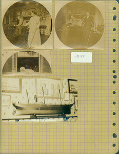 Tucker Family photograph album, portraits, page eighteen, Wiscasset, Maine, 1895