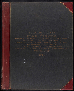 Atlas of the boundaries of the city of Holyoke and towns of Agawam, Blandford, Chester, Granville, Montgomery, Russell, Southwick, Tolland, Westfield, West Springfield, Hampden County : City of Northampton and towns of Chesterfield, Easthampton, Goshen, Hatfield, Huntington, Southampton, Westhampton, Williamsburg, Worthington, Hampshire County : Whately, Franklin County