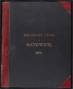 Atlas of the boundaries of the town of Sandwich, Bristol County