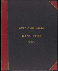 Atlas of the boundaries of the town of Kingston, Plymouth County