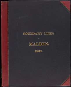 Atlas of the boundaries of the city of Malden, Middlesex County