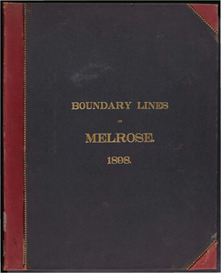 Atlas of the boundaries of the town of Melrose, Middlesex County