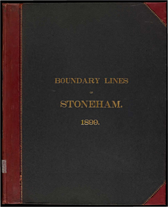 Atlas of the boundaries of the town of Stoneham, Middlesex County