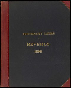 Atlas of the boundaries of the city of Beverly, Essex County