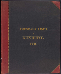 Atlas of the boundaries of the town of Duxbury, Plymouth County