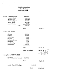 1996 Moakley campaign financial documents