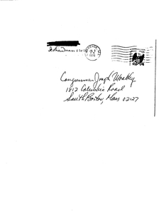 Constituent thank you letter to John Joseph Moakley from members of the Eliot family thanking John Joseph Moakley for seeing them when they visited Washington