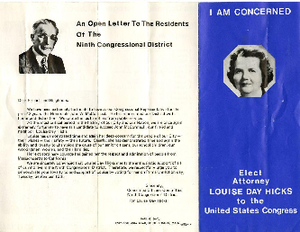 Louise Day Hicks 1970 campaign flyer