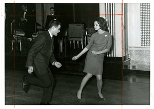 Suffolk University students dancing at the Fall Ball, early 1960s