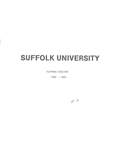 1982-1983 Suffolk University Telephone Directory