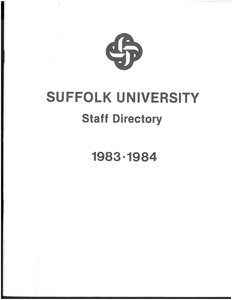 1983-1984 Suffolk University Staff Directory