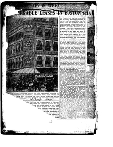Scrapbook of Boston real estate news clippings compiled by Suffolk University, 1904-1923