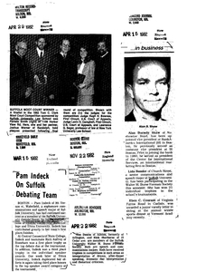 News clipping scrapbook compiled by Suffolk University, September 1981-December 1982