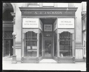 415 Boylston St., Boston. A.J. Jackson store, exterior