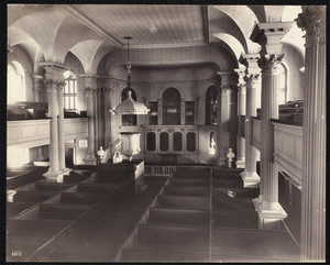 Interior view of King's Chapel, Tremont Street, Boston, Mass., August 1, 1895