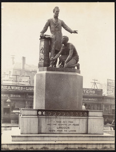 View of the Emancipation Group, Park Square, Boston, Mass., undated