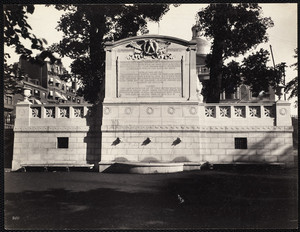 View of the south facade of the Shaw Memorial, Boston Common, Boston, Mass., 1897