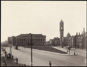 Copley Square looking towards Dartmouth Street, Boston, Mass.
