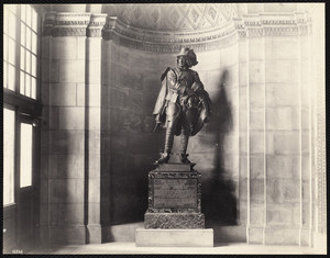 Sir Henry Vane statue, Boston Public Library, Dartmouth Street, Boston, Mass.