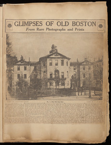 Glimpses of Old Boston from Rare Photographs and Prints clippings album