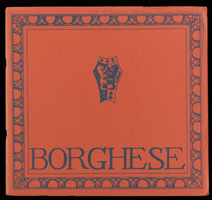 Borghese catalogues, Charles Hall, Inc. 3 East 40th Street, New York, New York