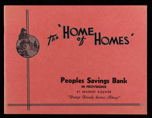 Home of homes, Peoples Savings Bank, 27 Market Square, Providence, Rhode Island