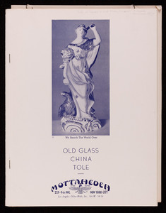Catalog for Mottahedeh and Sons, old glass, china, tole, Mottahedeh, 225 5th Avenue, New York City, New York